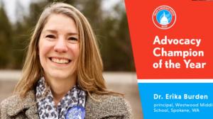 Erika Burden NASSP 2020 Advocacy Champion of the Year