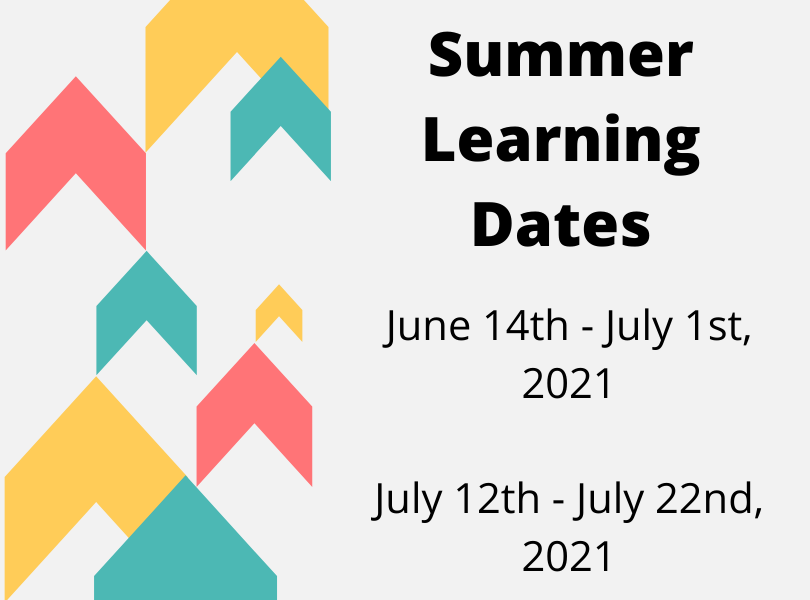 Summer Learning Dates