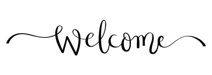 Welcome in cursive design