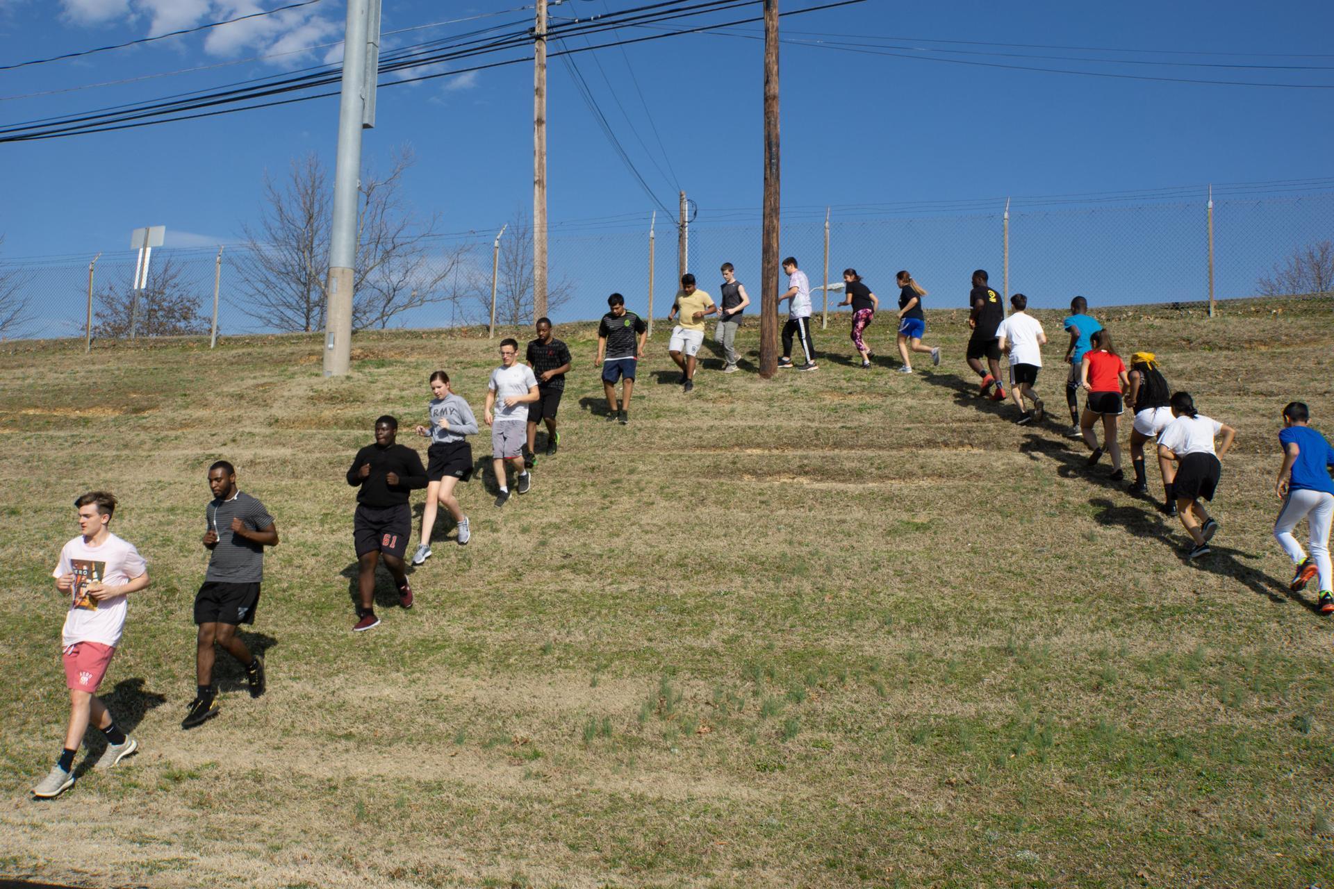 Bulldog JROTC Physical Training Run