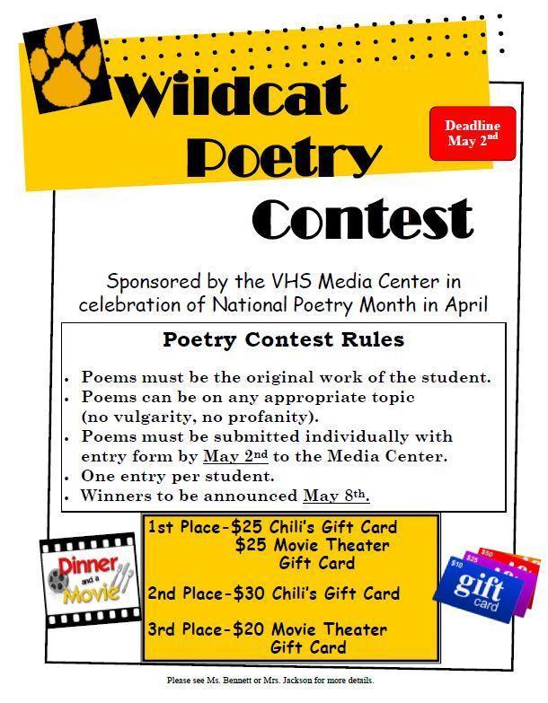 Wildcat Poetry Contest 2019