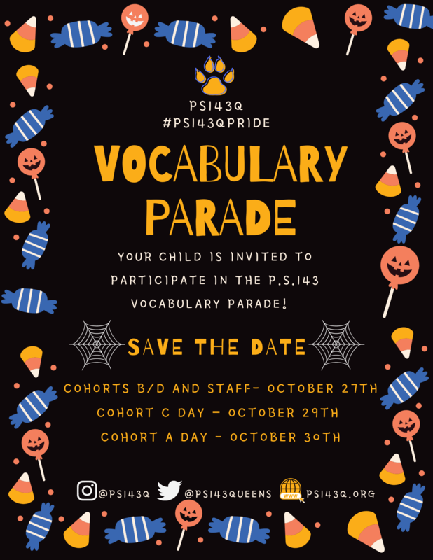 PS143Q Vocabulary Parade 2020