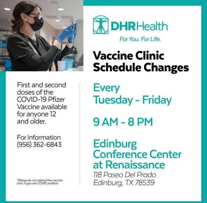 DHR Health Vaccine Clinic Schedule Changes Featured Photo