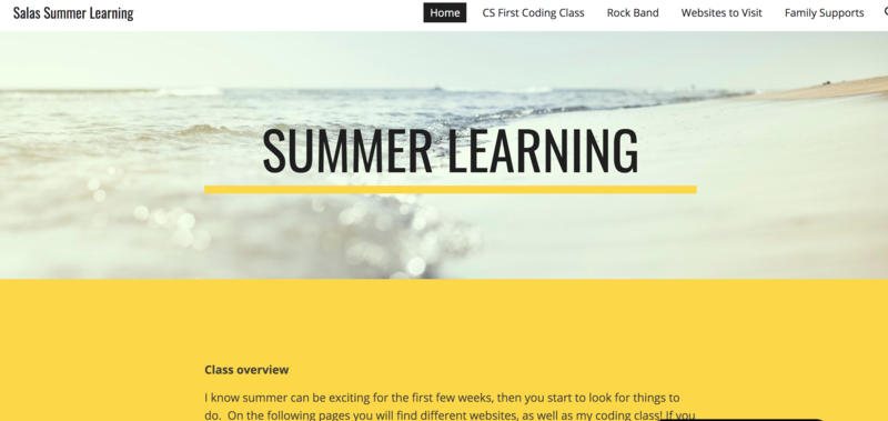 Salas Summer Learning Page Featured Photo