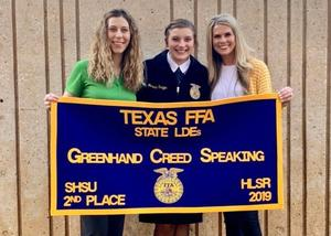 Rudder High School FFA students place second and sixth at the state competition