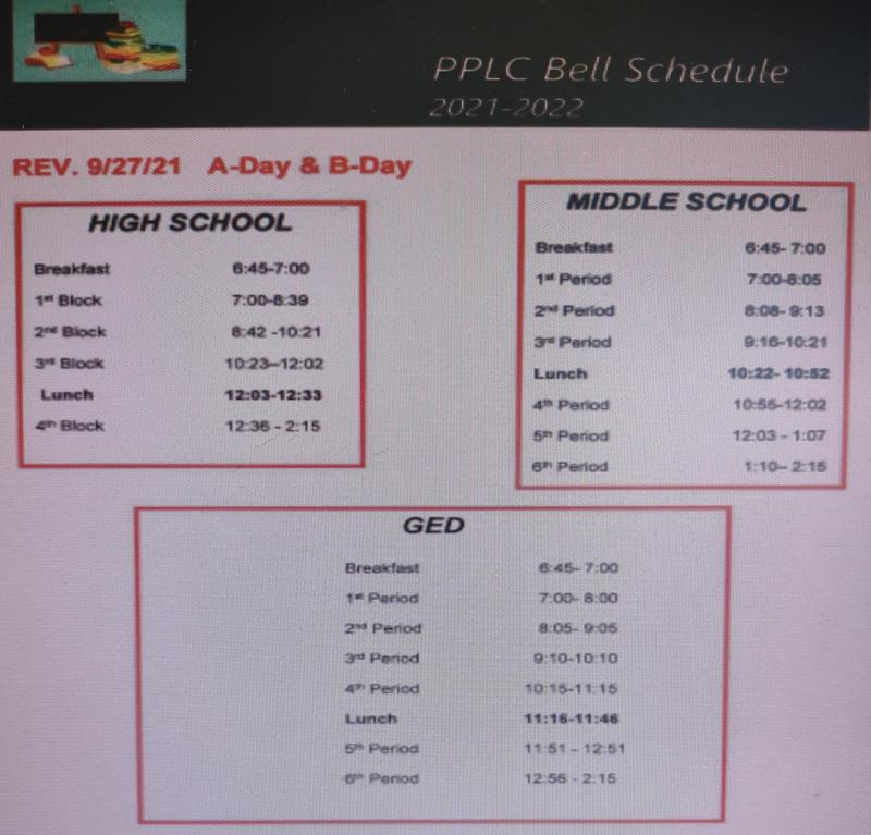 Adjusted bell schedules for PPSB Thumbnail Image
