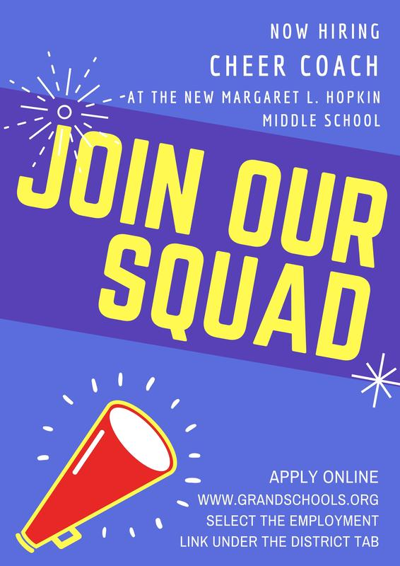 Now Hiring! Middle School Cheer Coach Featured Photo