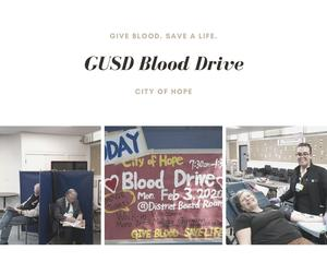 GUSD Blood Drive Photo Collage