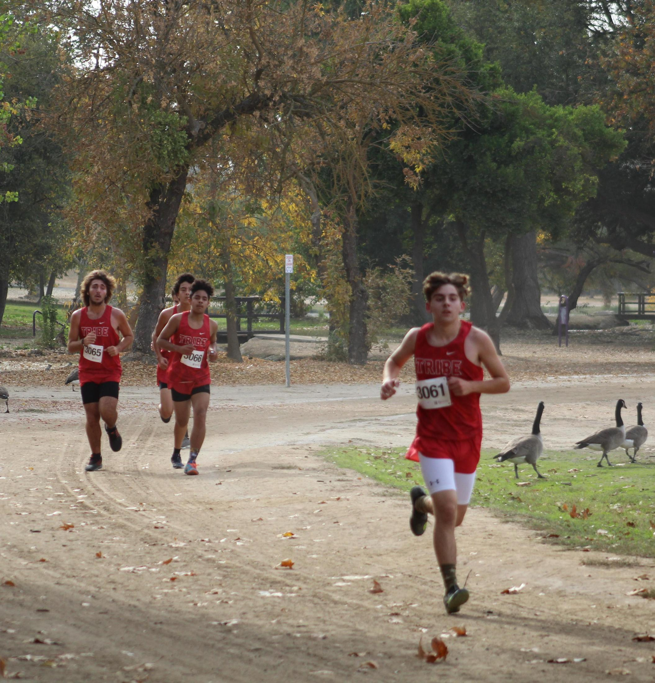 Antonio Brasil, Carson Borba and Angel Gonzales running