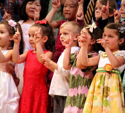 Children singing