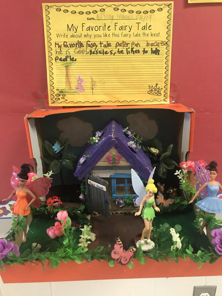 Peter pan diorama