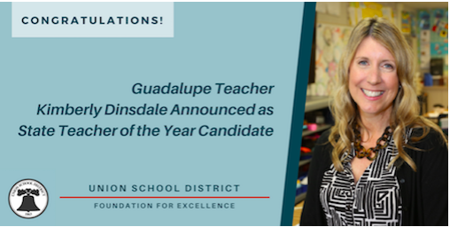 Guadalupe Teacher Kimberly Dinsdale Announced as State Teacher of the Year Candidate Featured Photo