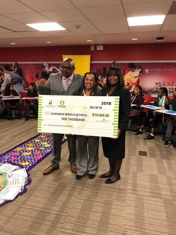 Audubon Robotics Teacher Ms. Doby Honored by USC Athletic Department Featured Photo