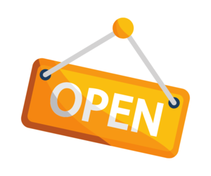 open house sign with yellow background