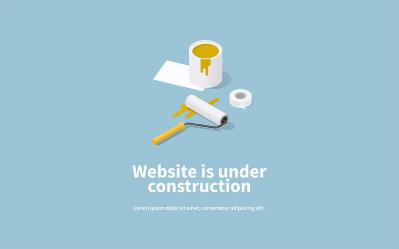 Website under construction image