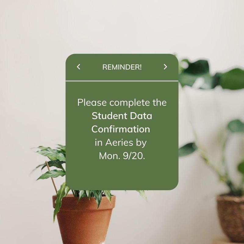 *Reminder* Annual Student Data Confirmation Featured Photo