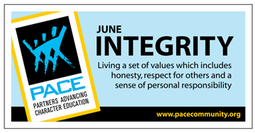PACE Character Trait for June is INTEGRITY! Thumbnail Image