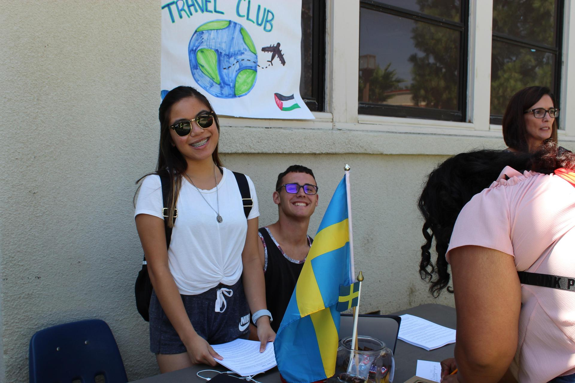 Students and staff at club rush