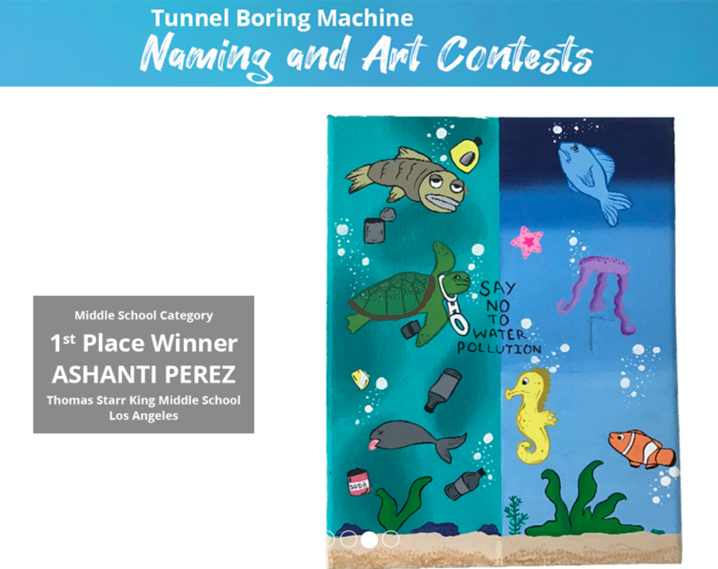 Congratulations to the Clearwater Wastewater Plant Tunnel Boring Machine Naming and Art Contests Winners Featured Photo