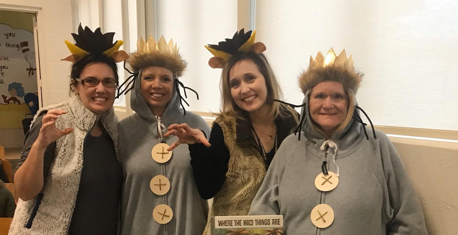 teachers in costumes