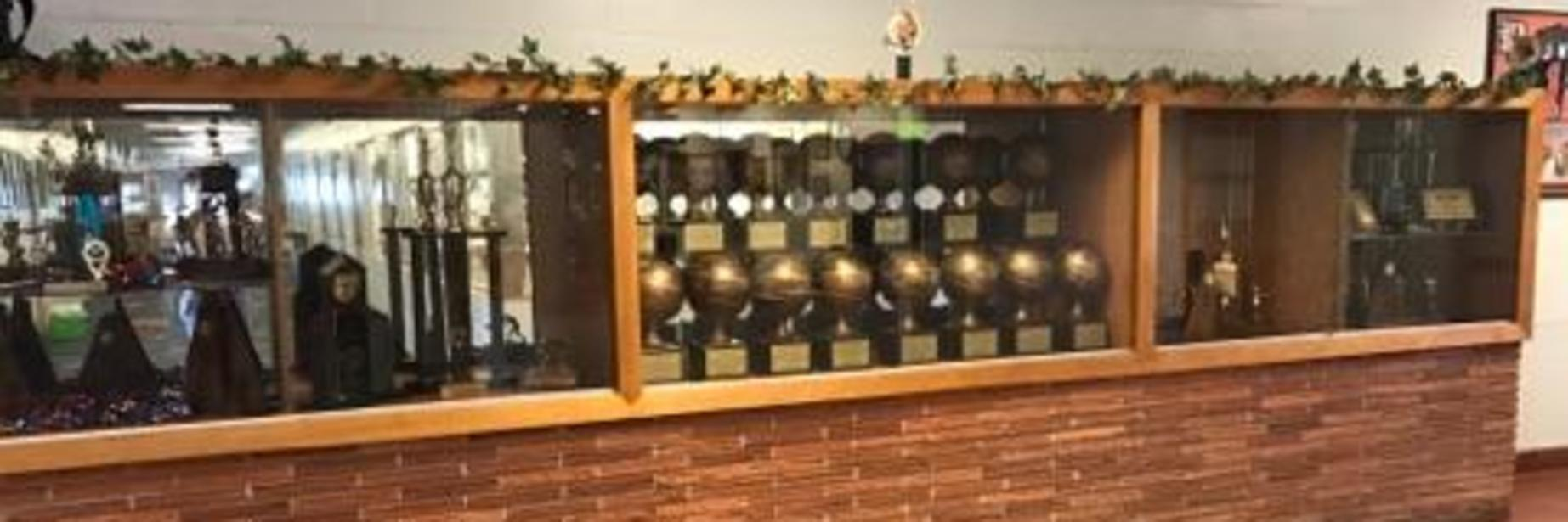 malone  trophy case