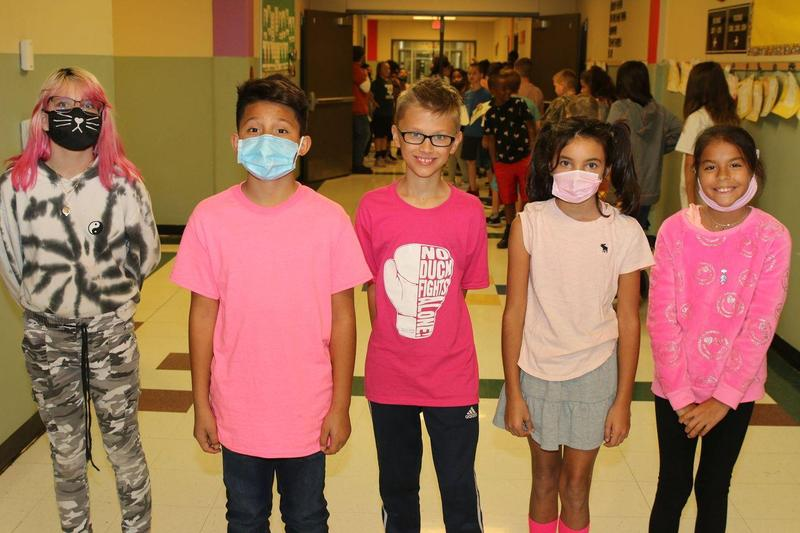 Pink Out Friday Main Street Intermediate