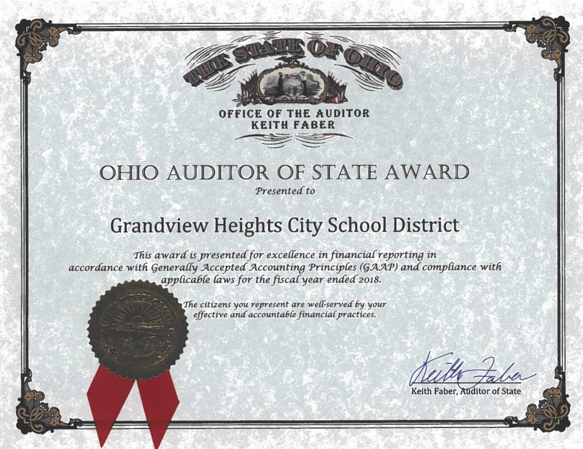 Auditor of State Award 2018