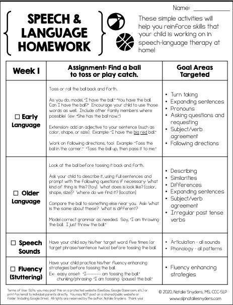Speech Worksheet
