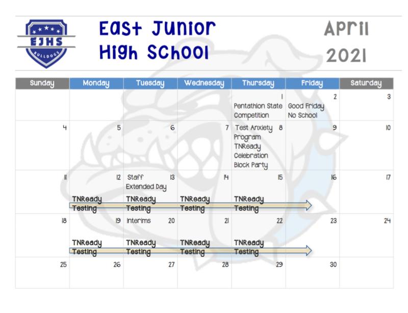EJHS April Calendar Thumbnail Image