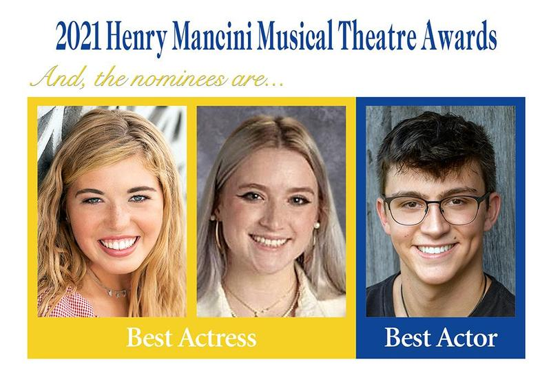 Mars Area High School students (from left) Ellie Howell, Meghan McKenzie and Zachary Brunotts are nominated for 2021 Henry Mancini Musical Theatre Awards.