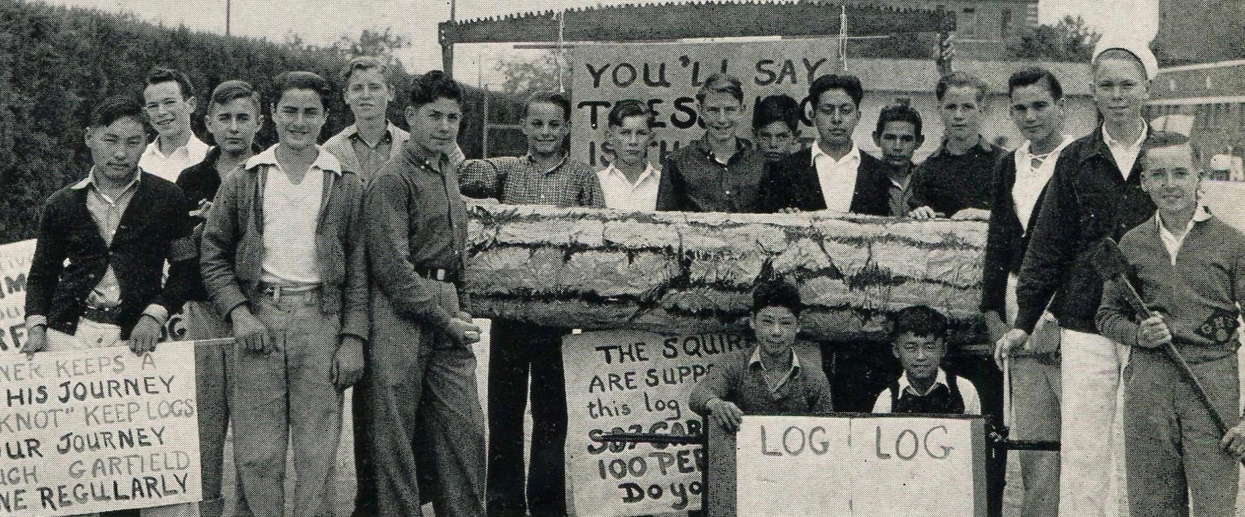 Squires advertising the Log