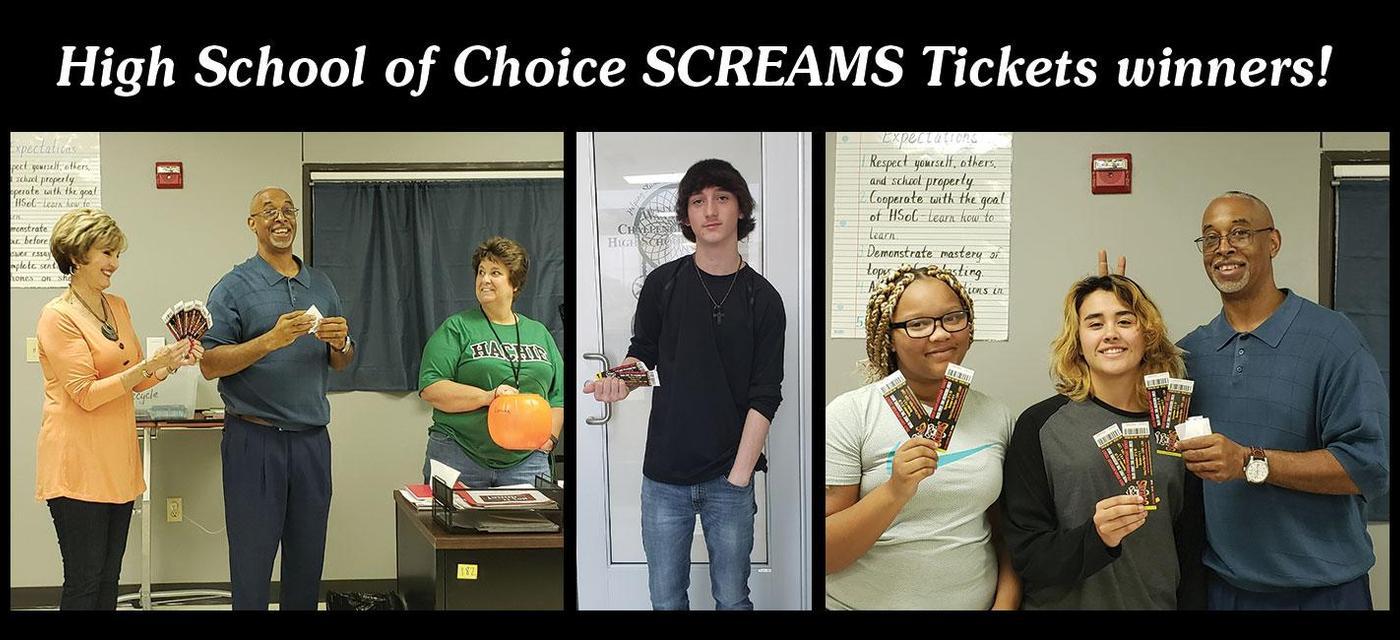 screams ticket winners