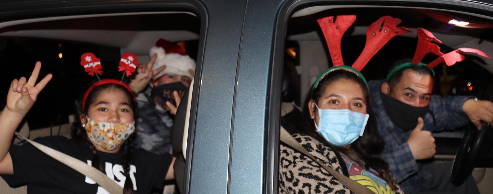 Rio Vista family participates in Drive-Thru parade