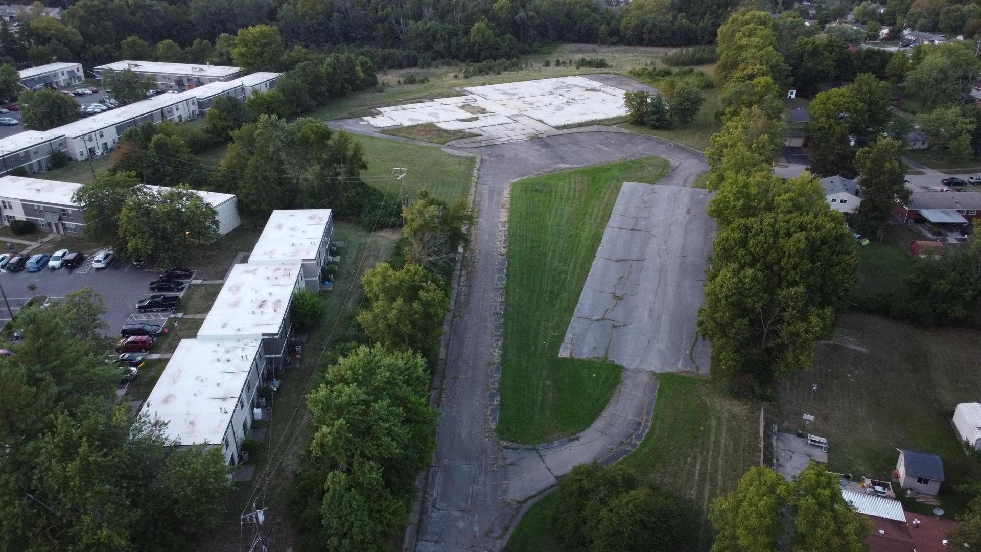 drone shot of Elc area and driveway