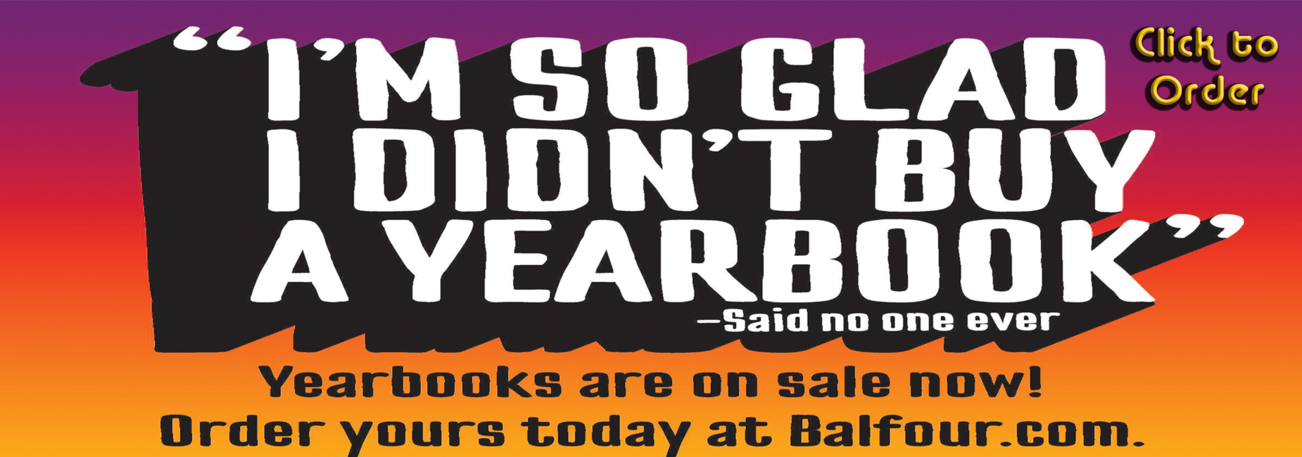 Yearbook Sale Click to Order
