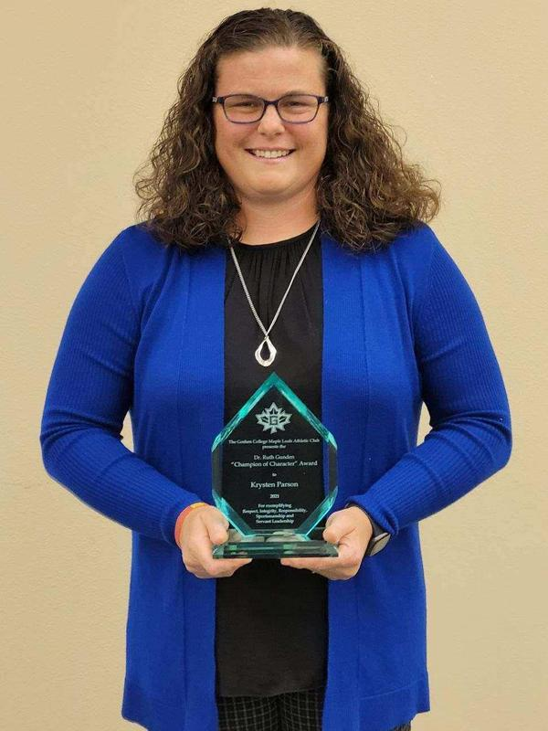 Krysten Parson receives Champion of Character Award Featured Photo