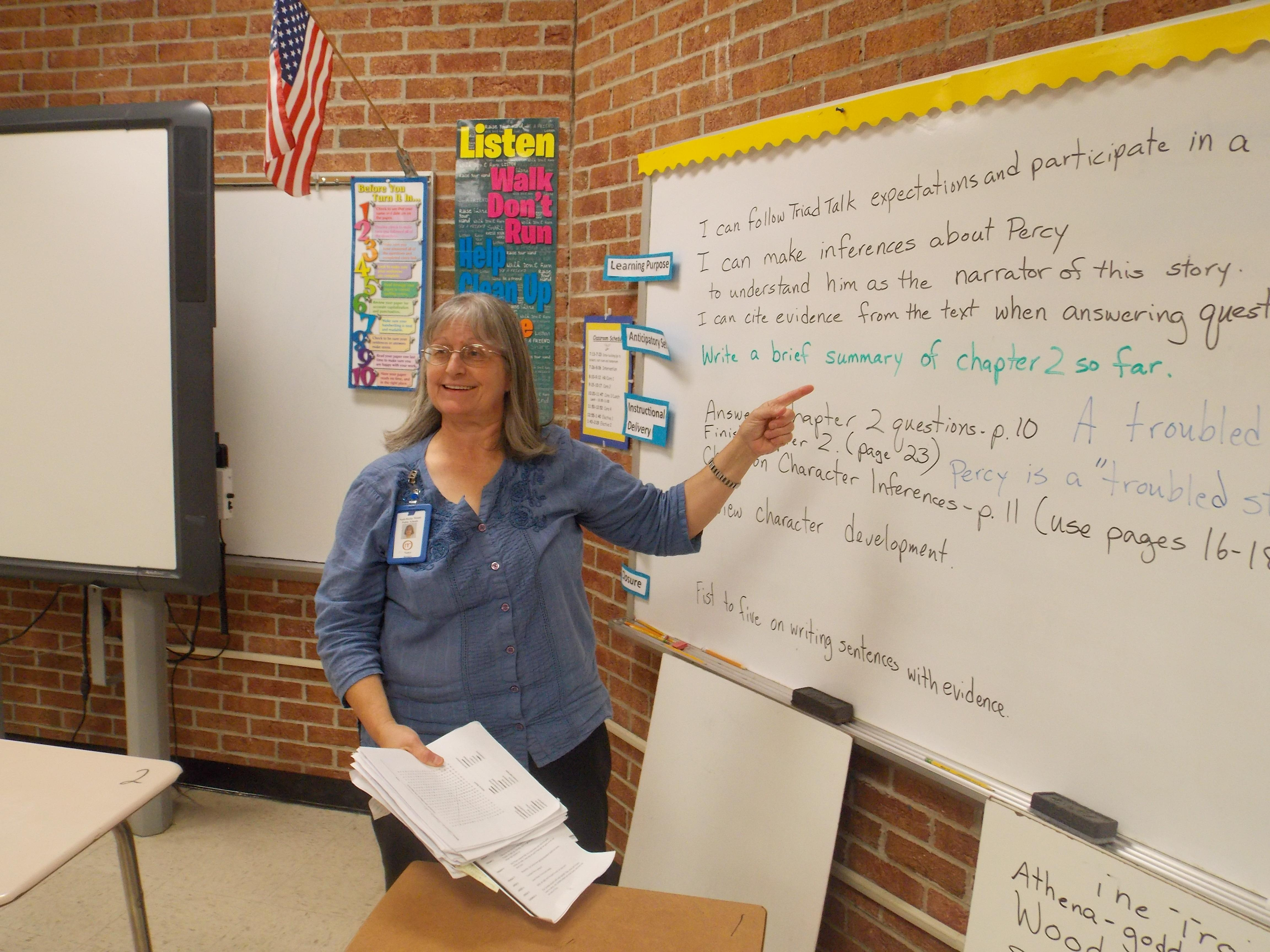 Learning in the classroom at Nash Central Middle