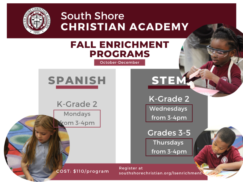 Fall Enrichment Programs