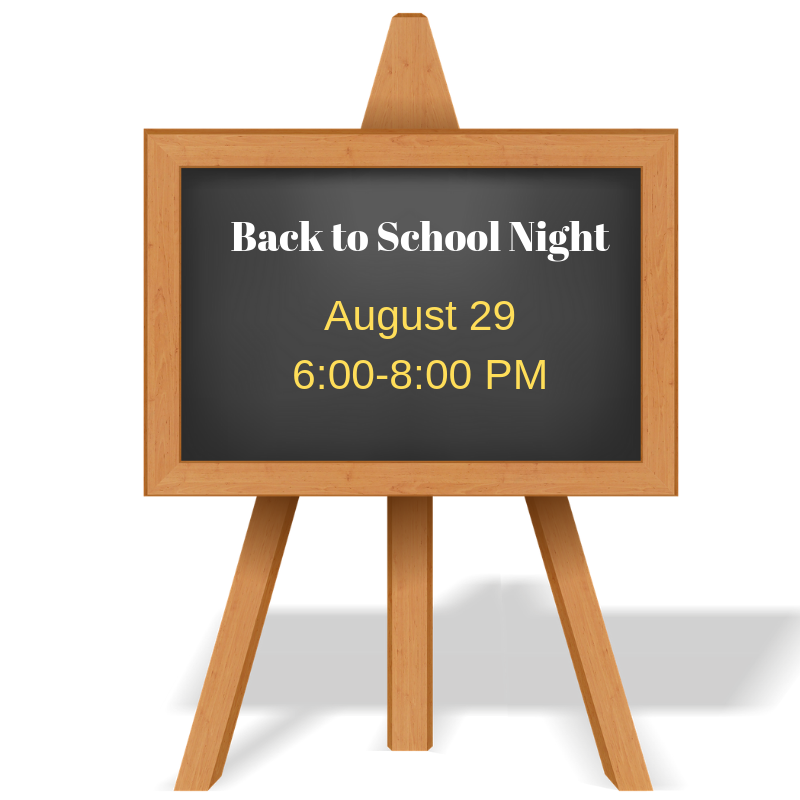 back to school night august 29