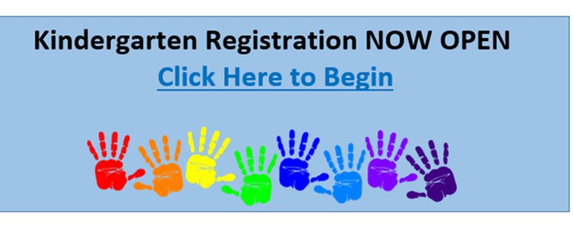 Kinder Registration NOW OPEN