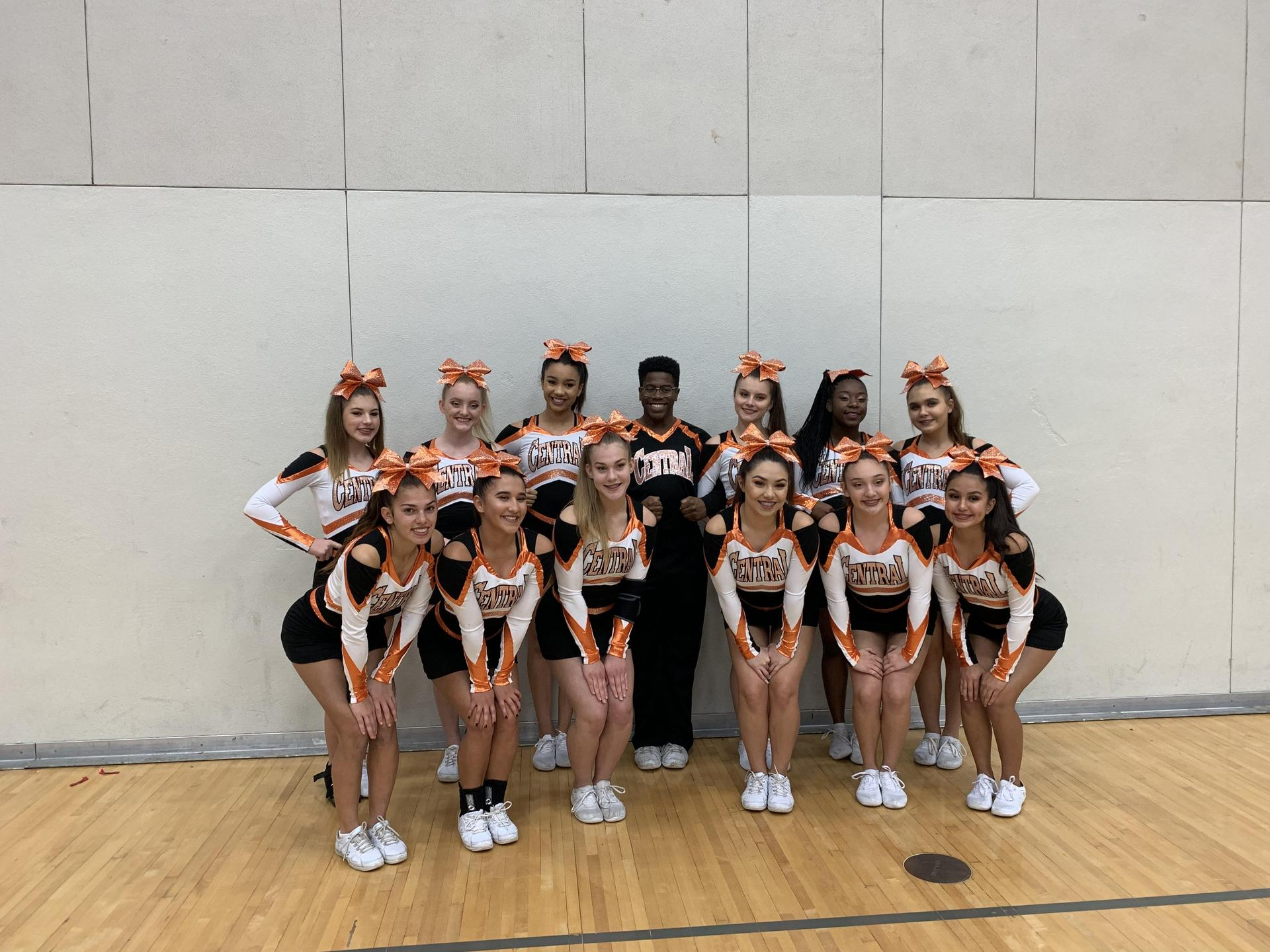 Varsity Competition Cheer (Not Pictured: Jayla Green)