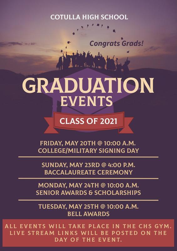 class of 2021 grad events