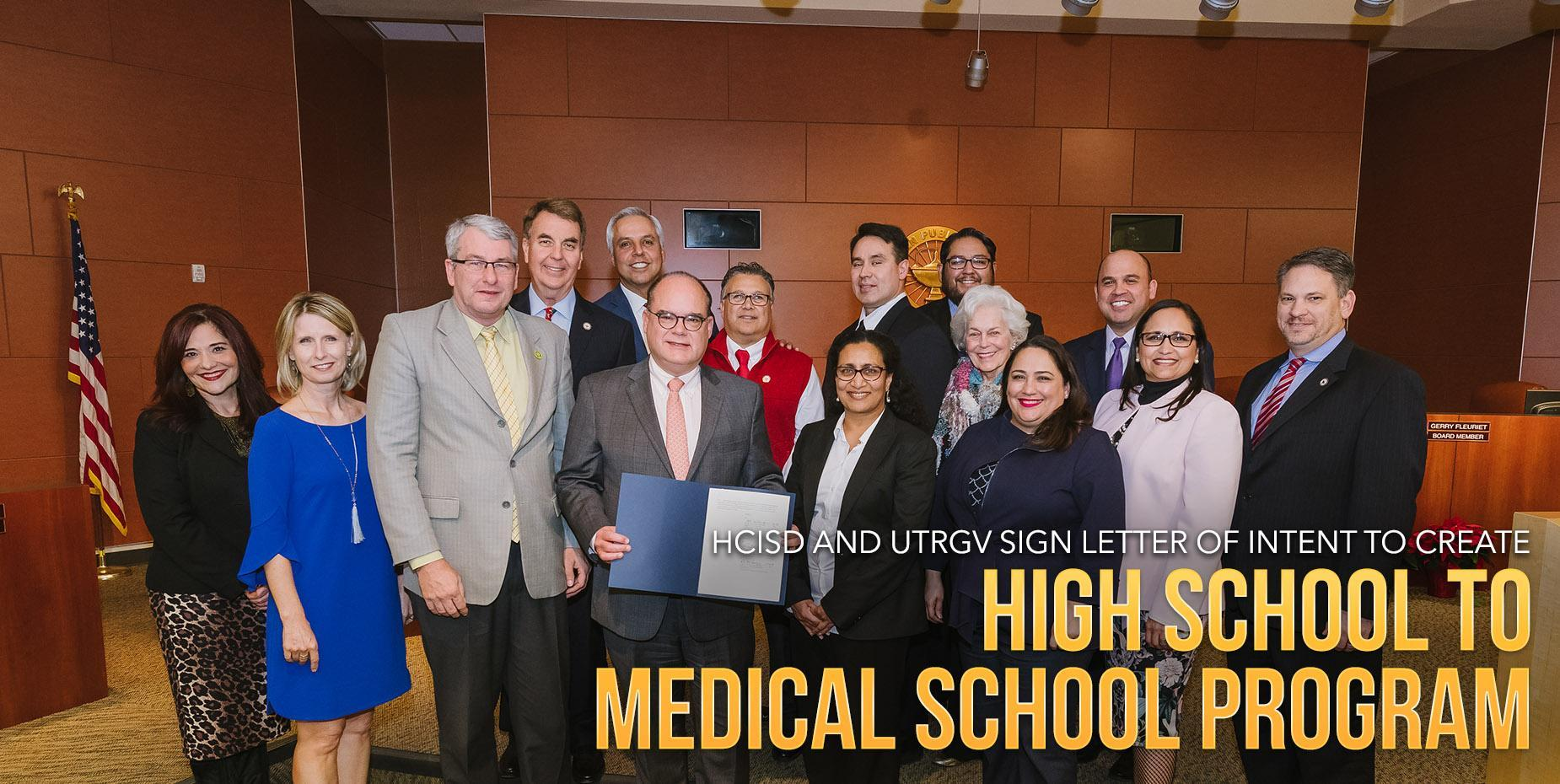 HCISD and UTRGV sign letter of intent to create high school to medical school program