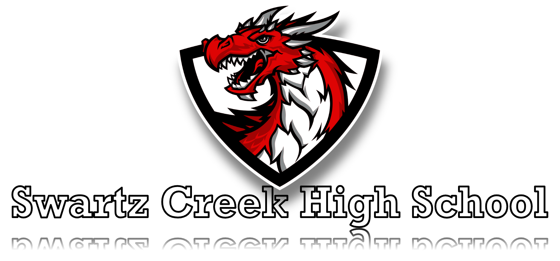 Dragon mascot and Title of Swartz Creek High School