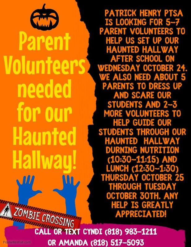 Haunted Hallway Volunteers Needed! Featured Photo