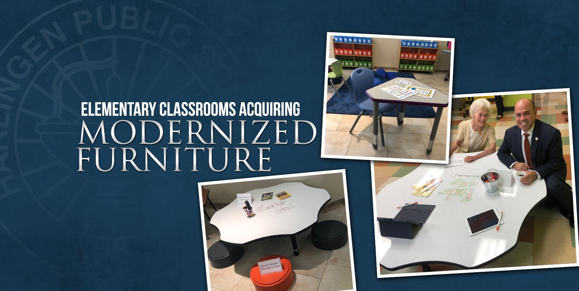 Elementary Classrooms acqyiring Modernized Furniture