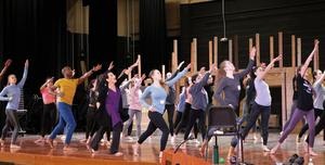 Edison students take part in a master class conducted by the Carolyn Dorfman Dance company on Feb. 4, exploring ways to express themselves through movement.
