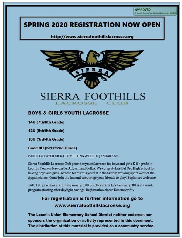 pic of Lacrosse flyer