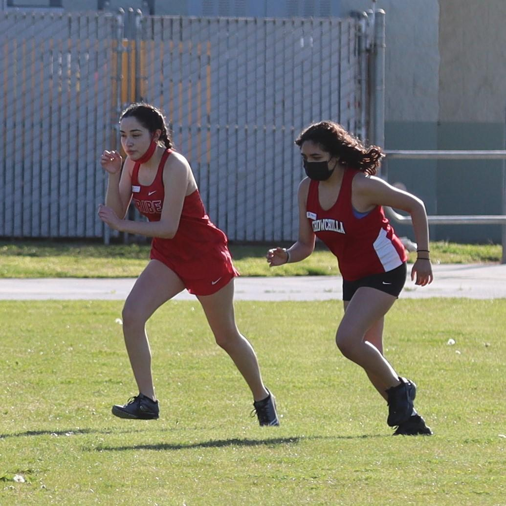 girls running in a cross country race at liberty high