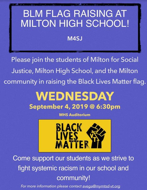 BLM Flag Raising at Milton High School